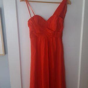 Ted Baker maxi Siri one shoulder orange dress